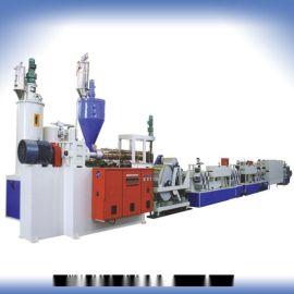 PP聚酯纤维轻质打包带机全柔性PE塑料机械挤岀机生产线再生塑料机器