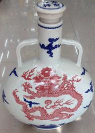 白酒陶瓷瓶加工定做1斤2斤3斤陶瓷酒瓶批发价格图片