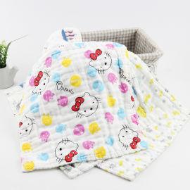 6层纱布口水巾 水洗泡泡纱方巾 精梳纱布手帕