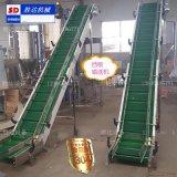 濮陽不鏽鋼爬坡輸送機防鏽防腐蝕鏈板擋板輸送機廠家