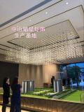 商場天井中廳採光玻璃吊頂裝飾燈定製光立方吊燈銘星