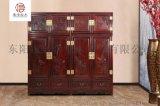 檀雕頂箱櫃-闊葉黃檀家具-新古典家具