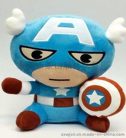 Q版美国队长公仔玩具 工厂加工公仔 玩具加工 毛绒玩具定制
