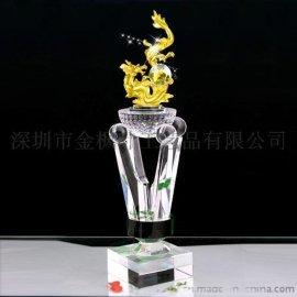 厂家直销金龙奖杯 合金奖杯 金属奖杯