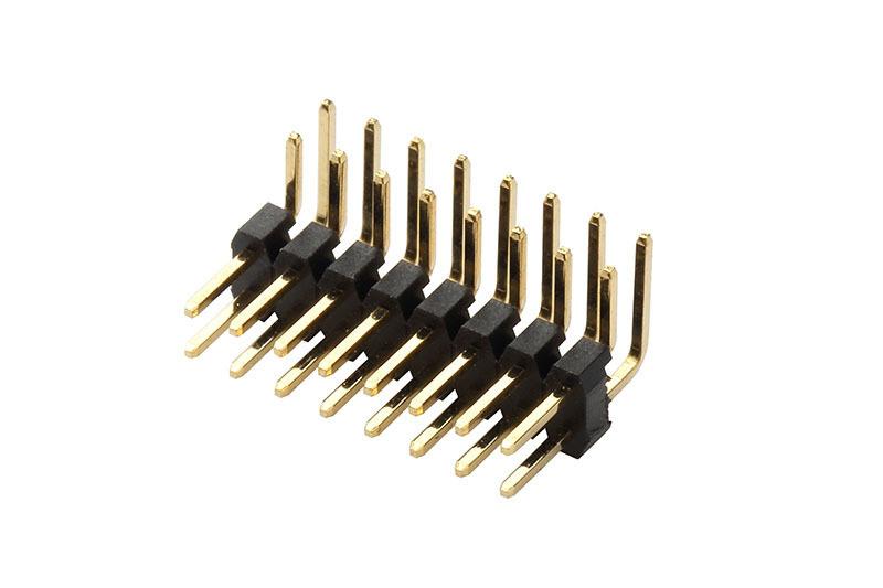 PCB连接器2.0mm 双排单塑90度电路板连接器