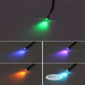 鑫创利黑皮光纤内2.0外3.0MM传感放大器工业通信塑料光纤照明光纤