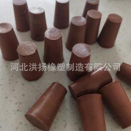 耐酸碱锥形氟胶塞 耐腐蚀橡胶堵头 耐高温耐油氟胶塞子