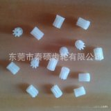 供應電機齒輪 玩具馬達塑料齒輪 本色0.5模數8齒7毫米高齒輪