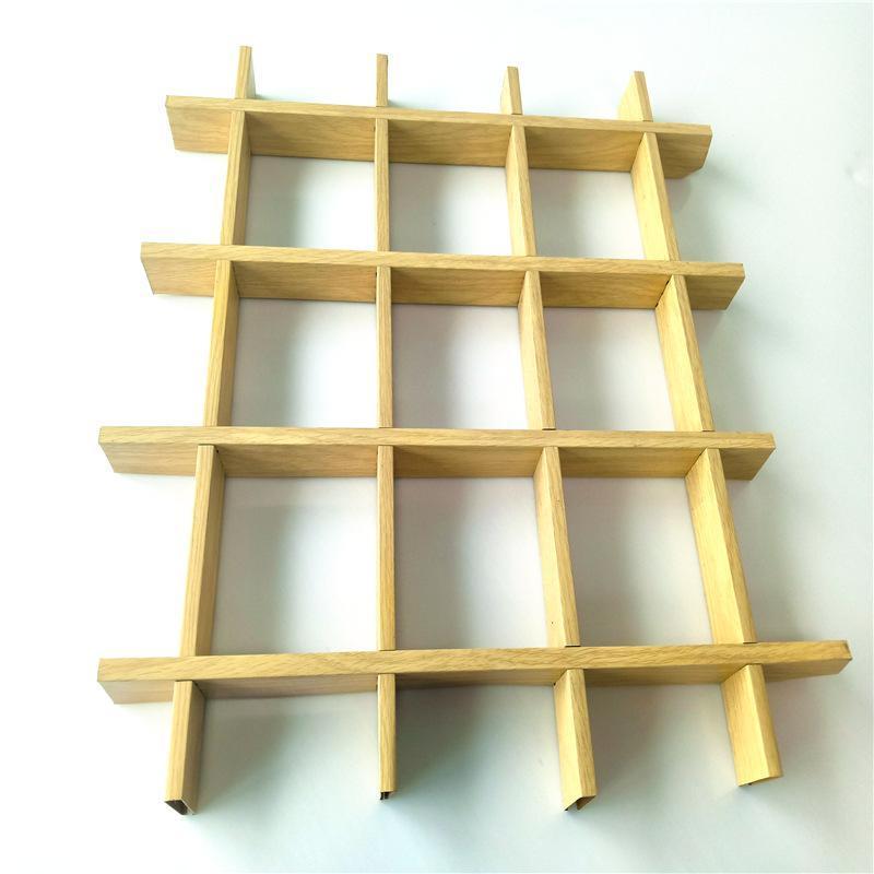 廠家定製木紋鋁格柵現貨供應吊頂天花鋁格柵加工生產