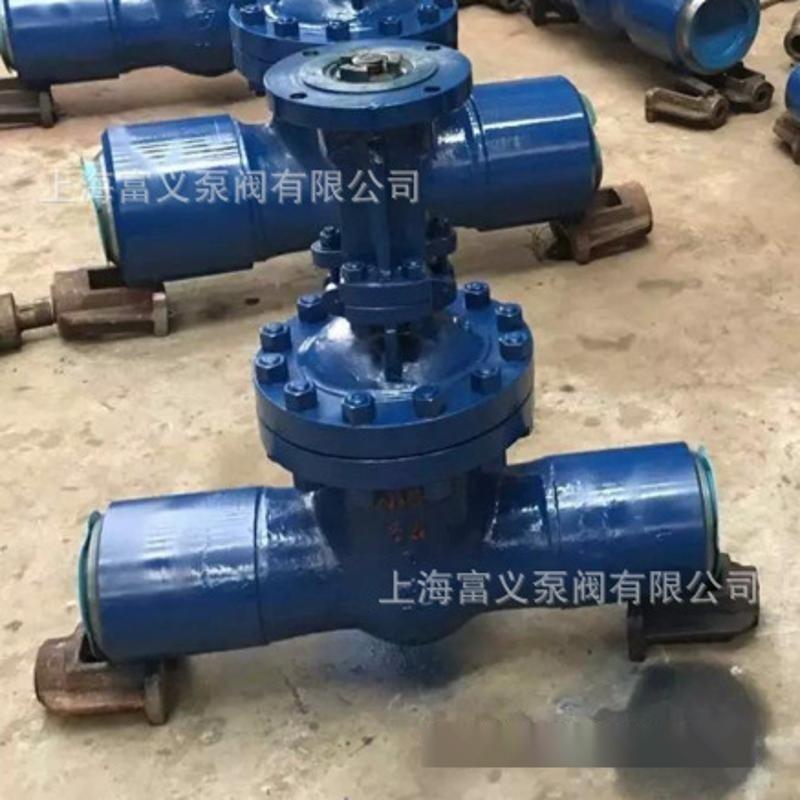 供应上海精嘉 Z61Y-100I铬钼钢焊接闸阀 高温高压闸阀DN200