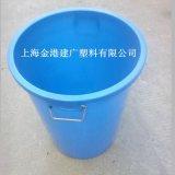 供应 新料加厚100升塑料桶 大水桶食品级塑料桶 铁手柄圆桶