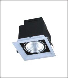 AR80-COB光源格栅灯LED单头豆胆灯 商业办公工程商业照明灯具