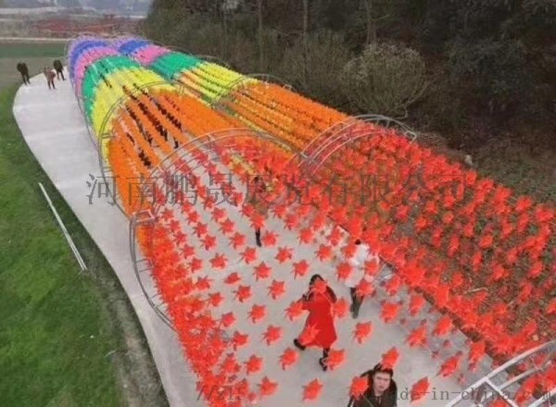 七彩風車荷蘭風車燈光節鯨魚島低價租賃