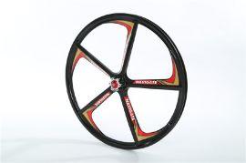 厂家直销24寸三地车碟刹一体轮组 山地自行车圈 镁合金自行车轮毂