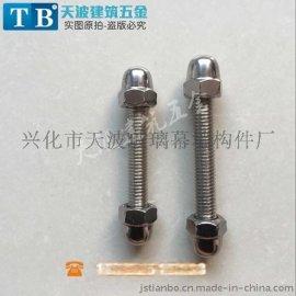 不锈钢双头螺杆 螺母 装饰盖母 按尺寸价格