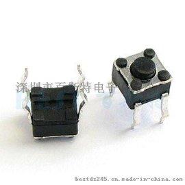 供应耐高温贴片轻触开关 TS-1109按键开关方头插件开关
