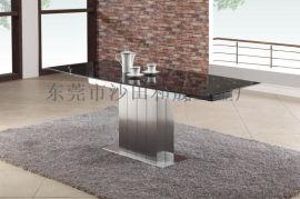 功能型拉伸不锈钢大理石餐桌S810