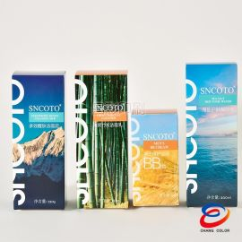 产品包装设计OEM加工 折叠纸盒 通用白卡男士护肤包装盒子