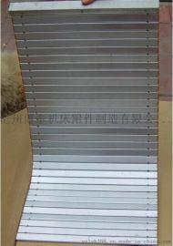 机床导轨铝帘防护罩 铝型材防护帘铝帘子 数控车床铝合金防护帘
