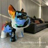 玻璃钢家具装饰动物狗雕塑 玻璃钢动物定制雕塑 玻璃钢商业街美陈