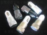 贴牌2.4a+1a双USB滚花车充 铝合金属车充