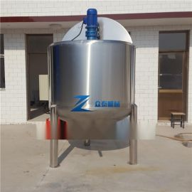 500L不锈钢液体搅拌罐三层加热保温罐厂家定制搅拌机