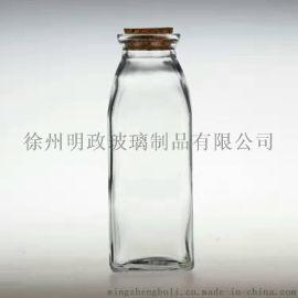 四方泡茶瓶 茶花瓶 奶茶瓶 冷泡茶杯子