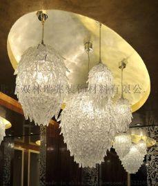 现代艺术玻璃灯 酒店灯具 酒店工程艺术灯