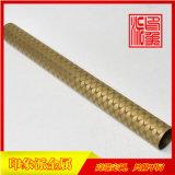 專業生產304黃銅色花紋不鏽鋼圓管