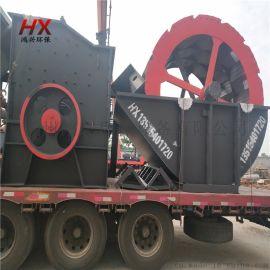 河沙洗砂设备 筛沙洗沙机械 轮式洗砂机技术参数