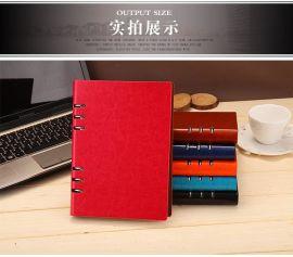 定制商务记事本 6孔夹子创意笔记本定制 A5A4手帐日记定做