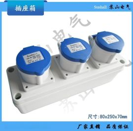 欧标德系多功能防水防尘防腐插座箱工业插头连接器 220V 16A插板