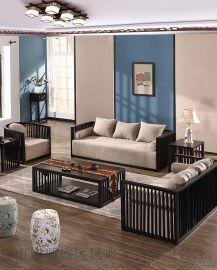 新中式沙发实木禅意家具组合酒店会所样板房售楼处茶楼别墅定制