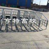 新款养猪定位栏加厚热镀锌焊接上架欧式限位栏价格