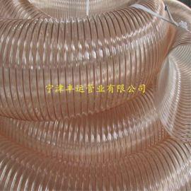 山东吸粮机颗粒输送管PU耐磨钢丝管透明钢丝伸缩管加厚聚氨酯钢丝管