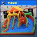 小型兒童充氣城堡多功能室內家用淘氣堡兒童蹦牀戶外球池滑梯跳牀