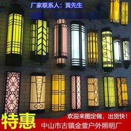 透光仿云石壁灯应用于房地产外墙效果