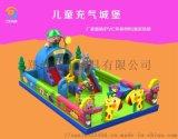 120平方儿童充气城堡高滑梯多少钱一套