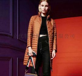 芭芭莉亞利羽絨服18年冬女裝中長款輕薄新款品牌折扣