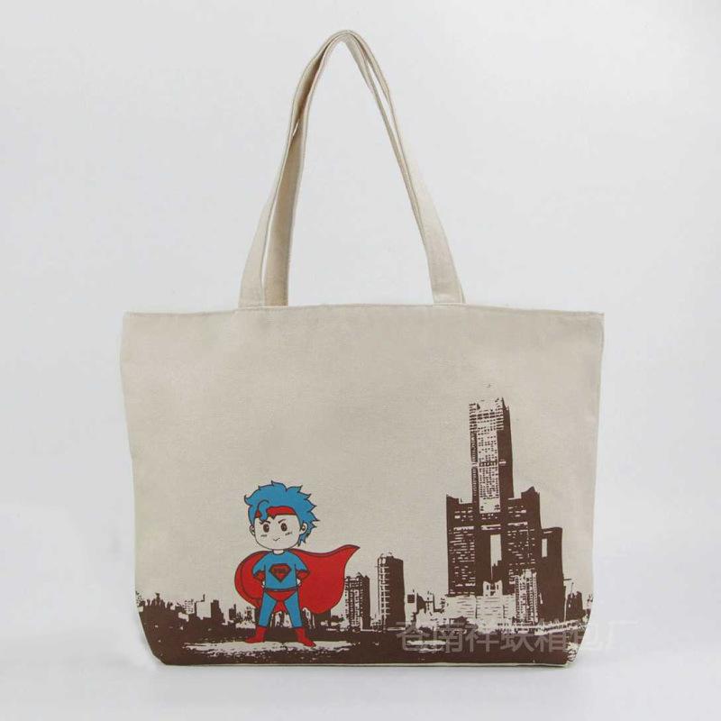 廠家定做 環保購物帆布手提袋彩印廣告棉布袋