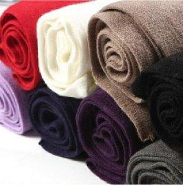 纯色保暖围巾