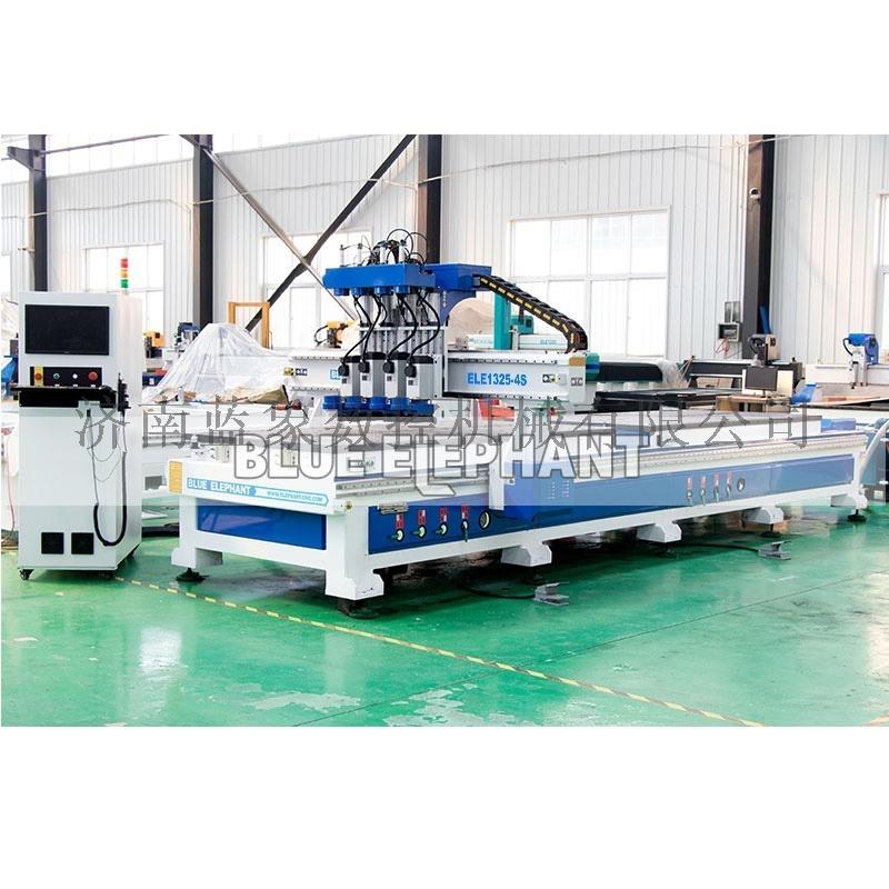 南京市数控橱柜门板雕刻机 衣柜门覆膜机