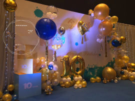 昆明氣球布場氣球專業婚房氣球寶寶宴