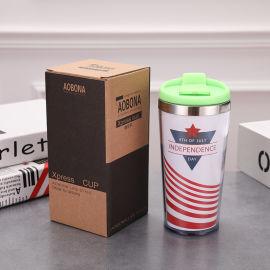 星巴克新款保温杯咖啡杯新款双层广告保温水杯