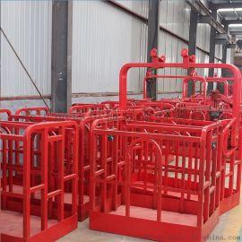 外墙高处作业施工吊篮 济宁1.2米吊车旋转吊框