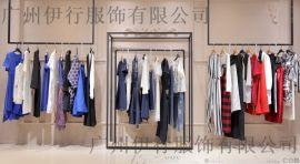 卡嘉茜品牌女装尾货拿货技巧折扣女装 杭州外贸尾货批发市场深蓝色棉衣