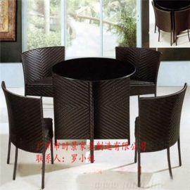 藤椅茶几庭院户外藤编家具阳台桌椅室内外休闲藤制桌椅