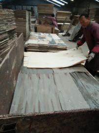 山东临沂木板材厂家直销一次成型插接废旧模板细木工,两次成型板头板,杨木包装板