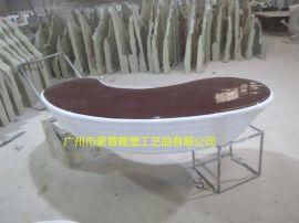 厂家直销特色玻璃钢坐凳雕塑工艺品