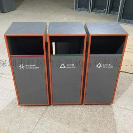 海南海口户外不锈钢分类垃圾桶垃圾箱定制